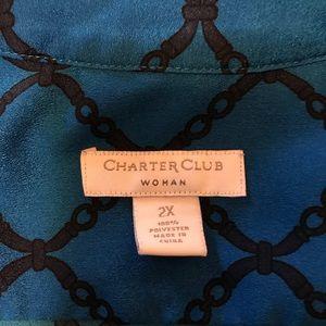 Charter Club Tops - Charter Club Woman Royal Blue Top, Size 2X